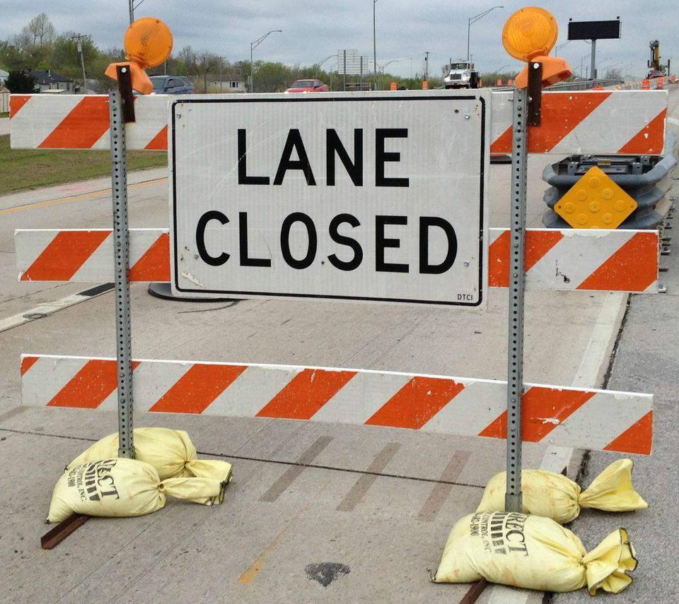 Image result for lanes closed road signs