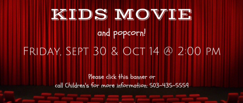 Sept & Oct Kids Movie banner