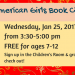 American Girls Book Club January banner
